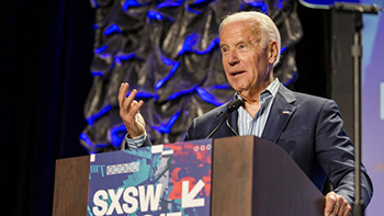 Vice President Joe Biden at the South by Southwest conference in Austin, Texas, March 2017